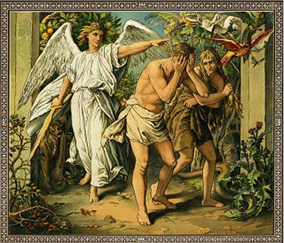 Adam and Eve leave Eden